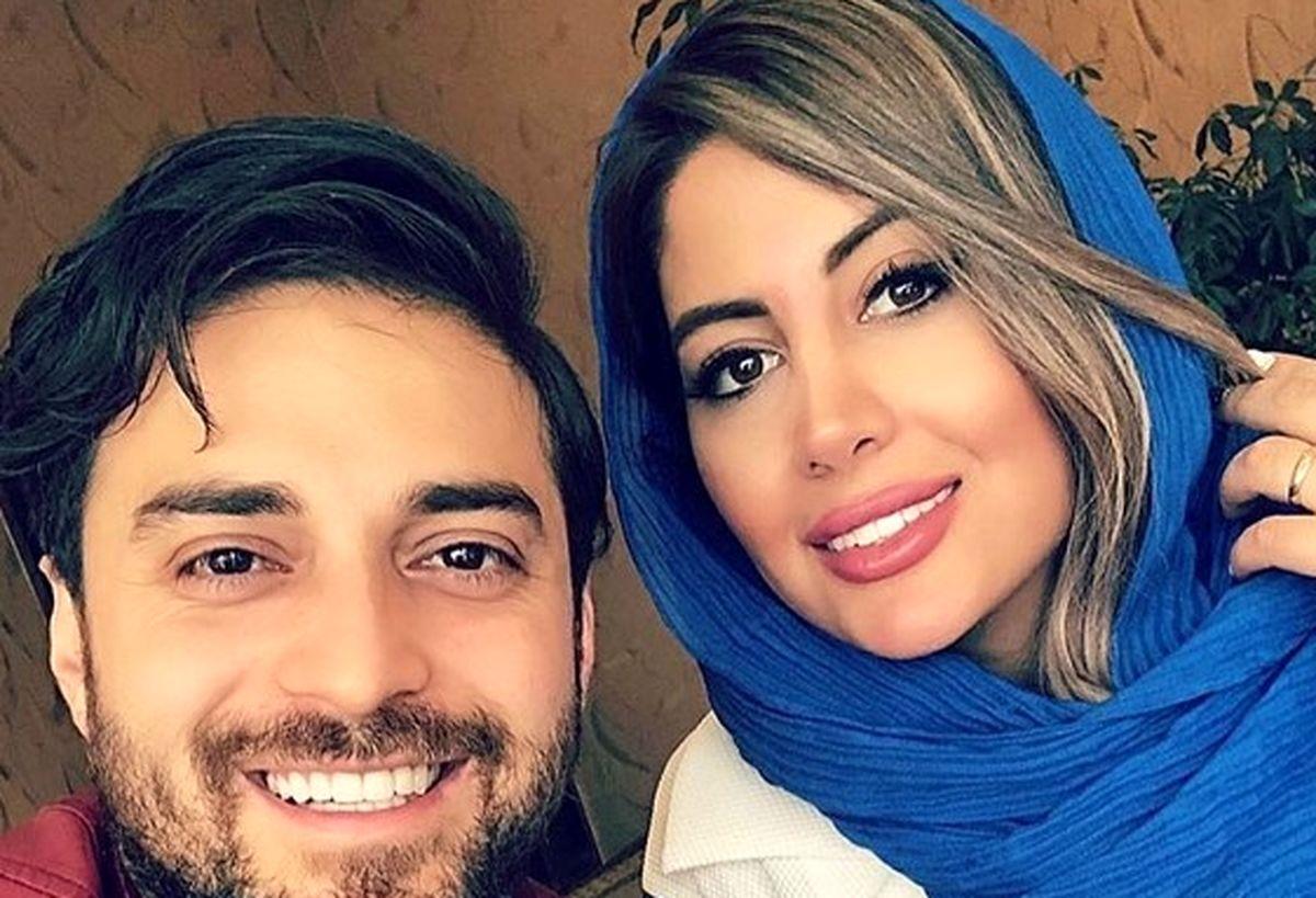 اولین عاشقانه بابک جهانبخش و همسرش در سال نو +عکس