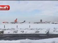 وضعیت امروز صبح فرودگاه مهر آباد +فیلم