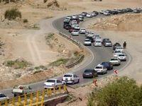 ترافیک در جاده هراز و چالوس نیمه سنگین است