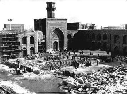 مرمت حرم امام رضا(ع) در دوره قاجار +عکس