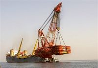 نصب سکوی ۵۷۰میلیون دلاری ایران روی آبهای خلیج فارس