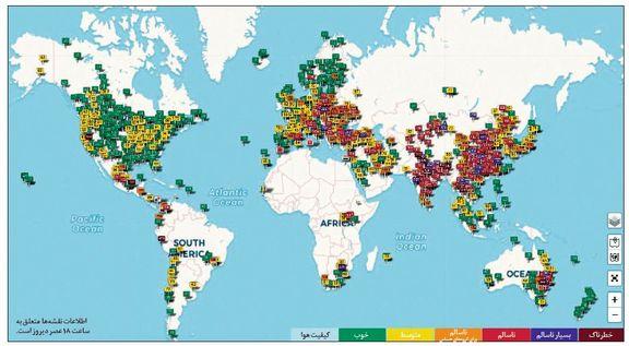 کدام شهرهای جهان از نظر آلودگی هوا هماورد تهران هستند؟