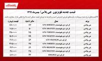 قیمت تلویزیون جی پلاس (۱۳۹۹/۱۱/۸)
