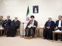دیدار رییسجمهور و اعضای هیأت دولت با رهبر +عکس