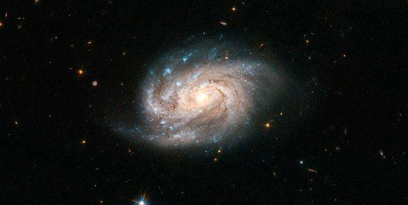 تصویر ناسا از یک کهکشان مارپیچی