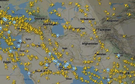 کاهش شدید ترافیک پروازهای خارجی در آسمان ایران +عکس