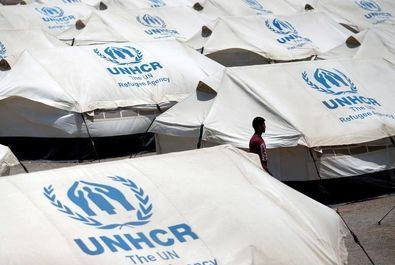پناهندگان ونزوئلایی در اردوگاه سازمان ملل
