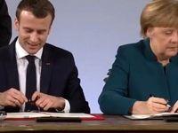 مرکل و ماکرون پیمان همکاری برلین-پاریس را امضا کردند