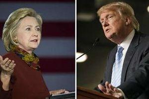 پیروزی ترامپ در 5 ایالت و کلینتون در 4 ایالت