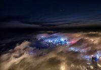تصاویر هوایی از مِه غلیظ در ساحل چینگدائو +عکس